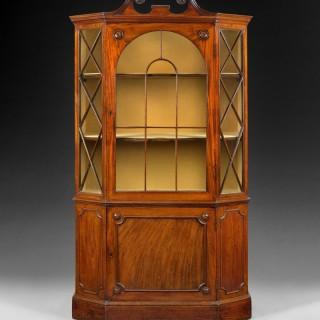 George III Period Mahogany Hexagonal Display Cabinet