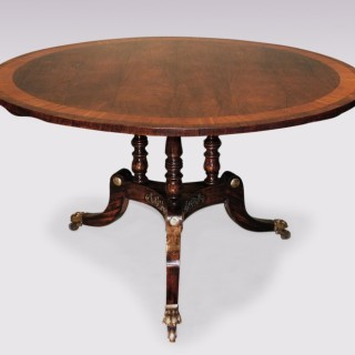 Antique Regency period rosewood Breakfast Table.