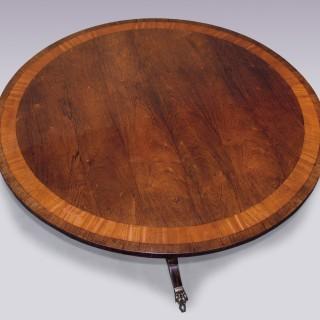 Antique Regency period rosewood Breakfast Table.