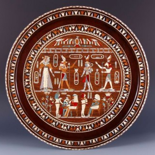 19TH CENTURY GRAND TOUR EGYPTIAN REVIVAL INLAID CHARGER