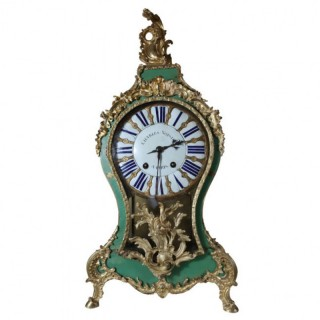 A 18TH CENTURY LOUIS XV BRACKET CARTEL CLOCK BY CHARLES VOISIN, PARIS