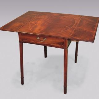 Mid 18th Century mahogany & palisander Pembroke Table.