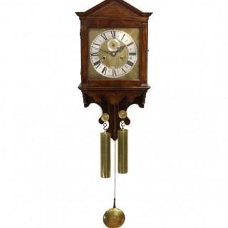 Dutch striking hooded wall clock, mid 18th century