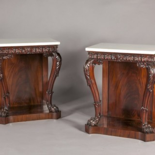 A Pair of Irish console tables