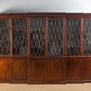 A George III Double Breakfront Bookcase