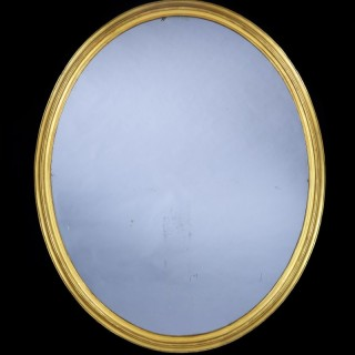 Large 19TH Century Oval Mirror