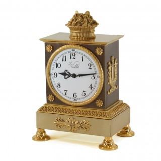 La Vallée bronze & gilt mantel timepiece