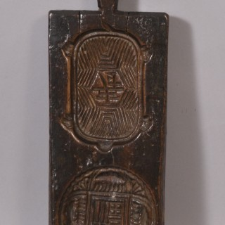Antique Treen 18th Century Sweet Mould