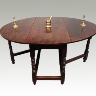 Charles II oak gateleg table.