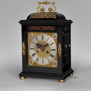 An important William and Mary quarter repeating spring table clock, by DANIEL QUARE, London c1695