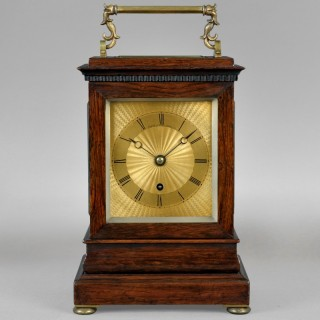 A nineteenth century English travelling clock, by PAYNE, 163 Bond Street, London c1840