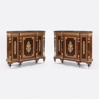 A Pair of Kingwood and Ormolu Cabinets of the Napoleon III Period