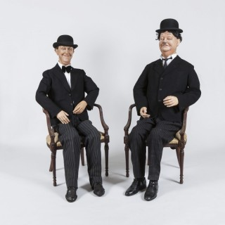 Lifesize Mannequins of Laurel and Hardy