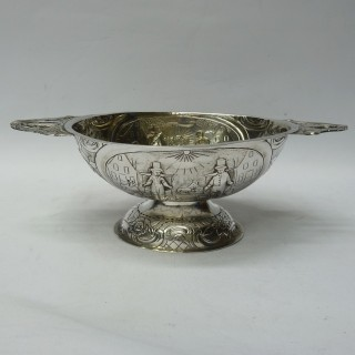 Antique Dutch Silver Brandy Bowl