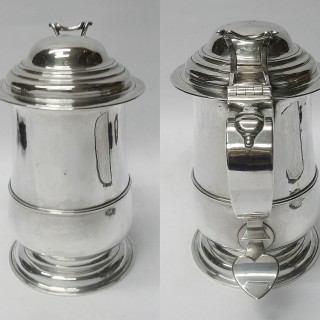 George III Newcastle Silver Lidded Tankard