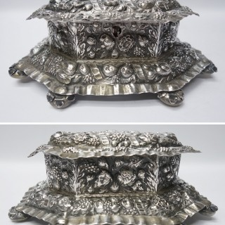Antique German Silver Casket