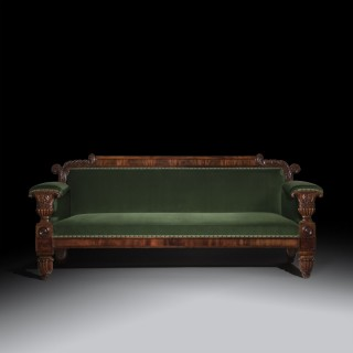 Fine Regency Mahogany Sofa, after a design by John Taylor