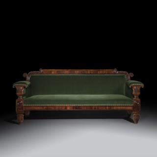 Fine Regency Mahogany Sofa,aftera design by John Taylor