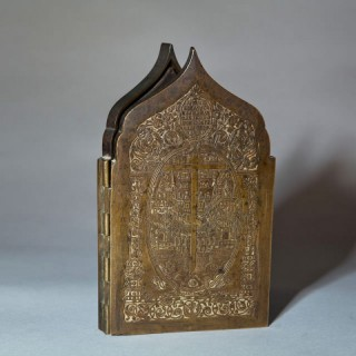 A RUSSIAN BRONZE TRAVELLING ALTAR
