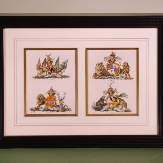 Pair of Late 18th Century Heraldic Prints by Christopher Catton