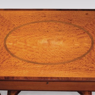 Sheraton Period Satinwood Occasional Table or Dressing Table