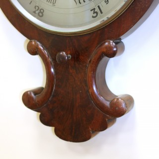 Mahogany Barometer with a Translucent Glass Face