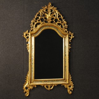 Italian Mirror In Painted and Gilt Wood and Plaster from 20th Century