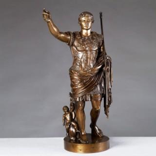 BRONZE OF AUGUSTUS ROMAN EMPEROR BY BOSCHETTI