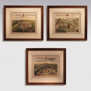 A Pair of mid 18th Century Country Seats prints by Johannes Kip