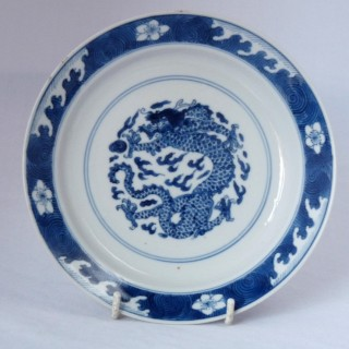 kangxi Blue and White  Small Porcelain Plate