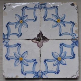 Set of Four 18th-century Portuguese Tiles