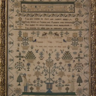 Antique Sampler, 1832, by Mary Lewis