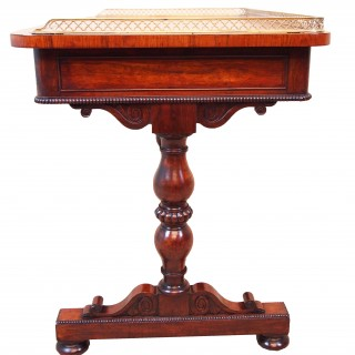 Antique Regency Rosewood Library Writing Table