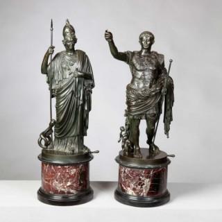 MINERVA AND AUGUSTUS, ATTRIBUTED TO B BOSCHETTI