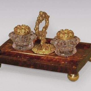 A Regency period ormolu and tortoiseshell Pentray.