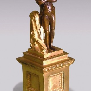 French mid 19th century bronze and ormolu model of Napoleon.