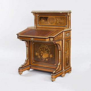 An Exceptional Marquetry Writing Table Davenport