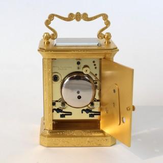 Engraved Carriage clock by Paul Garnier, c.1850s
