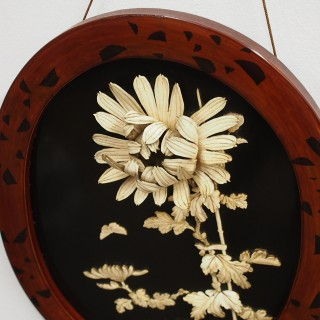 Pair of Japanese Lacquered Wall Plaques