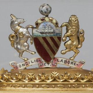 A Silver Gilt Presentation Casket Awarded to Alderman Abel Heywood