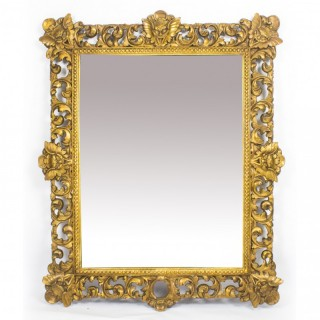 Antique Large Italian Gilded Florentine Mirror 18th Century - 145 x 119 cm