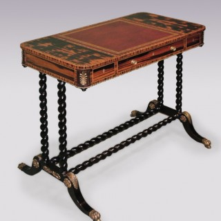 Antique Regency period coromandel wood Writing/ Reading Table