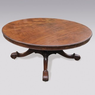A William IV period well figured mahogany circular Dining Table.