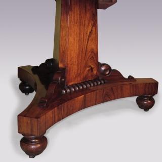 An early 19th century Regency period Rosewood Breakfast Table