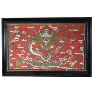 A Tibetan vellum dragon picture