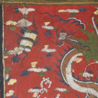 A Tibetan vellum dragon picture