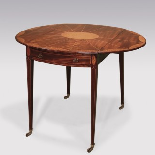 Late 18th Century Sheraton period well-figured mahogany Pembroke Table.
