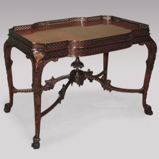 A fine 19th Century Chippendale style well carved mahogany Silver Table
