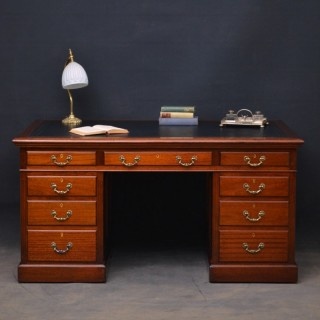 Large Mahogany Desk