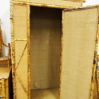 5 Piece Bamboo and Rattan Bedroom Suite